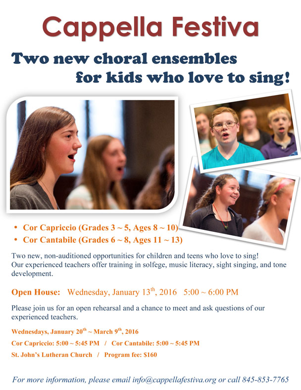 Two New Choirs for Children and Teens